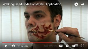Ripped Face Prosthetic Video