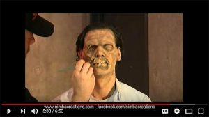 Zombie Makeup Application Video