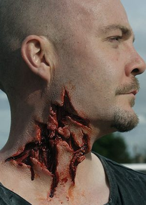 Zombie werewolf attack prosthetic