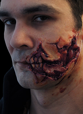 ripped face prosthetic