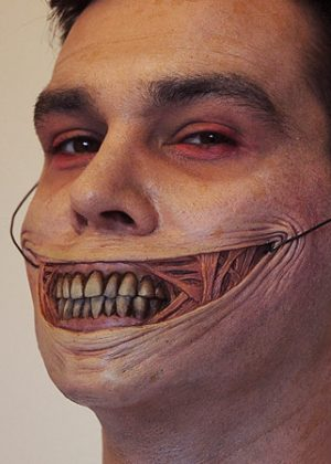 gory smile prosthetic