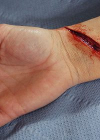 cut wrist prosthetic ready made and easy to apply
