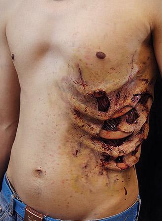 Zombie Rib Cage Prosthetic