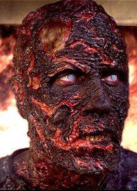 burned zombie prosthetics
