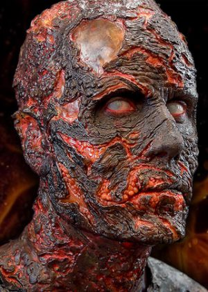 burned zombie prosthetics